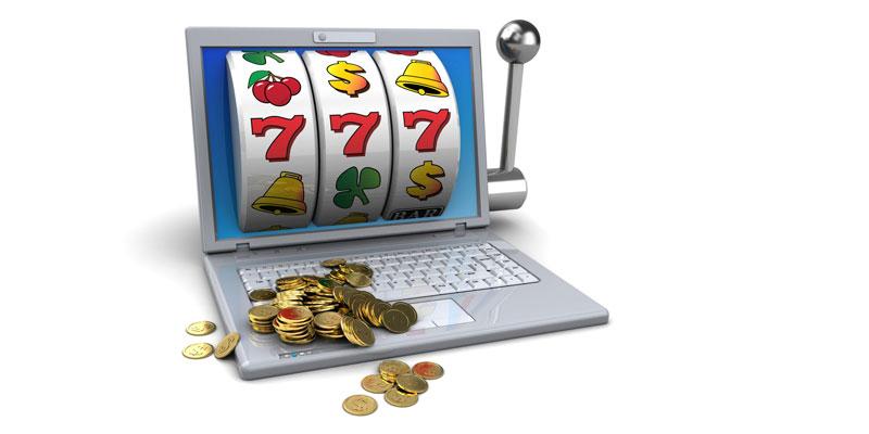 Online Slots on laptop